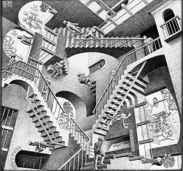 """M.C. Escher - """"Relativity"""""""